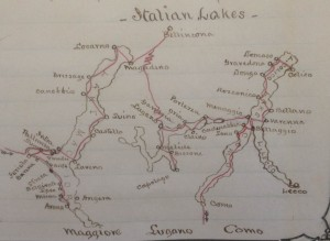 Map of Italian Lakes Ms. 3934 p. 322